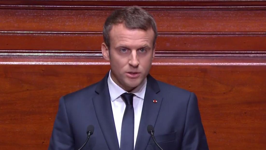 Macron defende sanções financeiras a quem recusar acolher migrantes