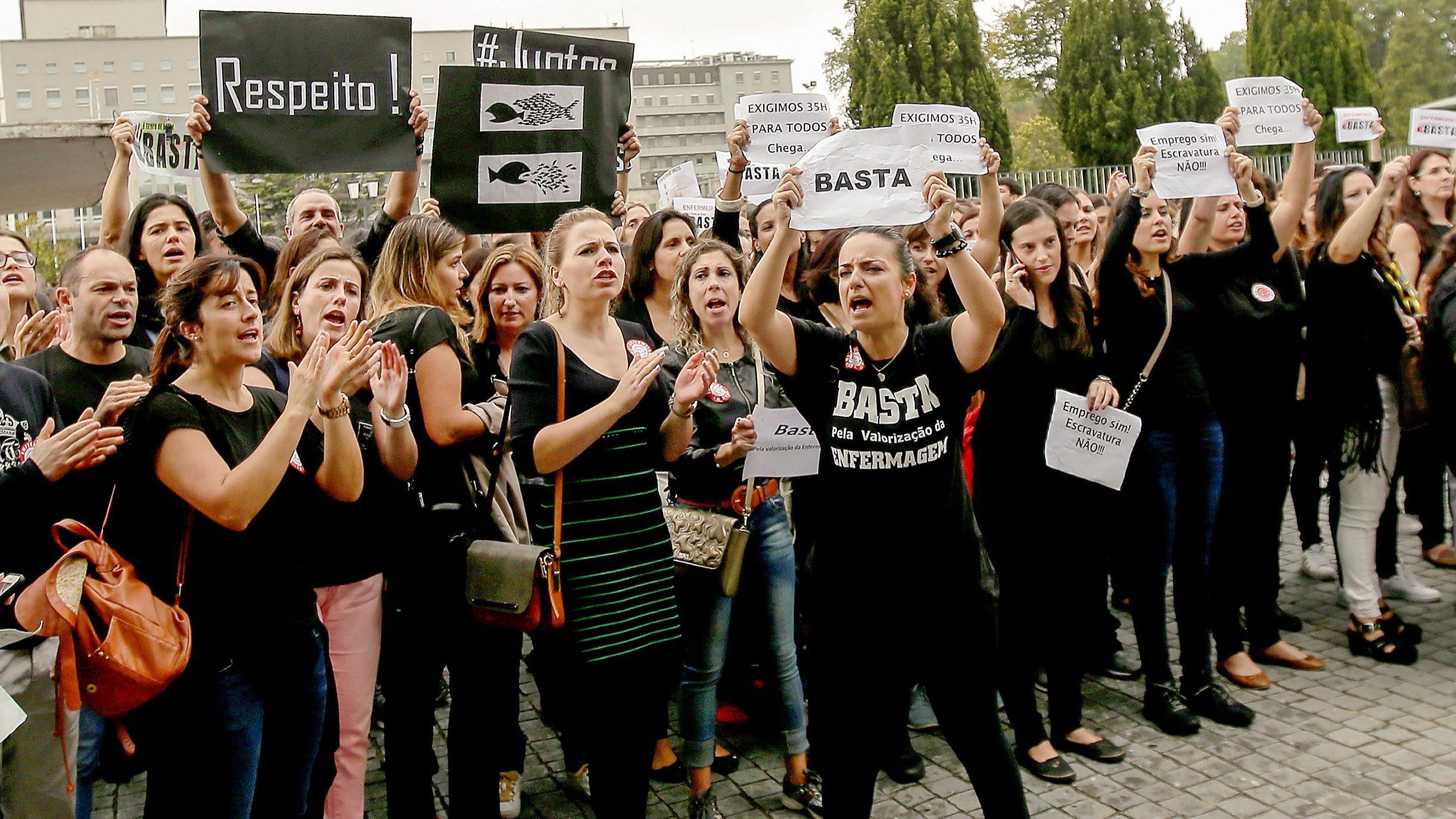 Primeiro dia de greve dos enfermeiros com adesão entre os 75% e os 80%
