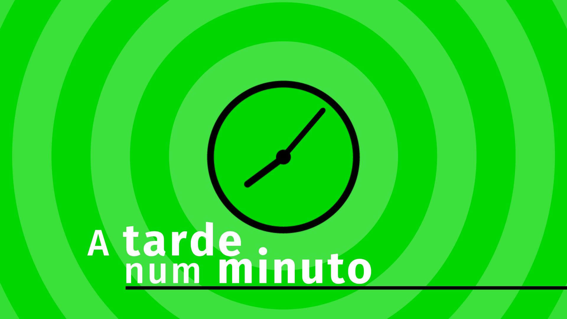 A tarde num minuto