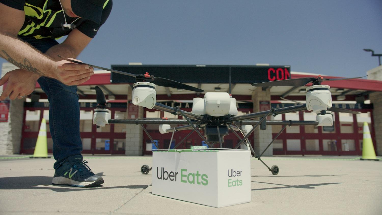 Uber Eats está a testar entregas de refeições com drones
