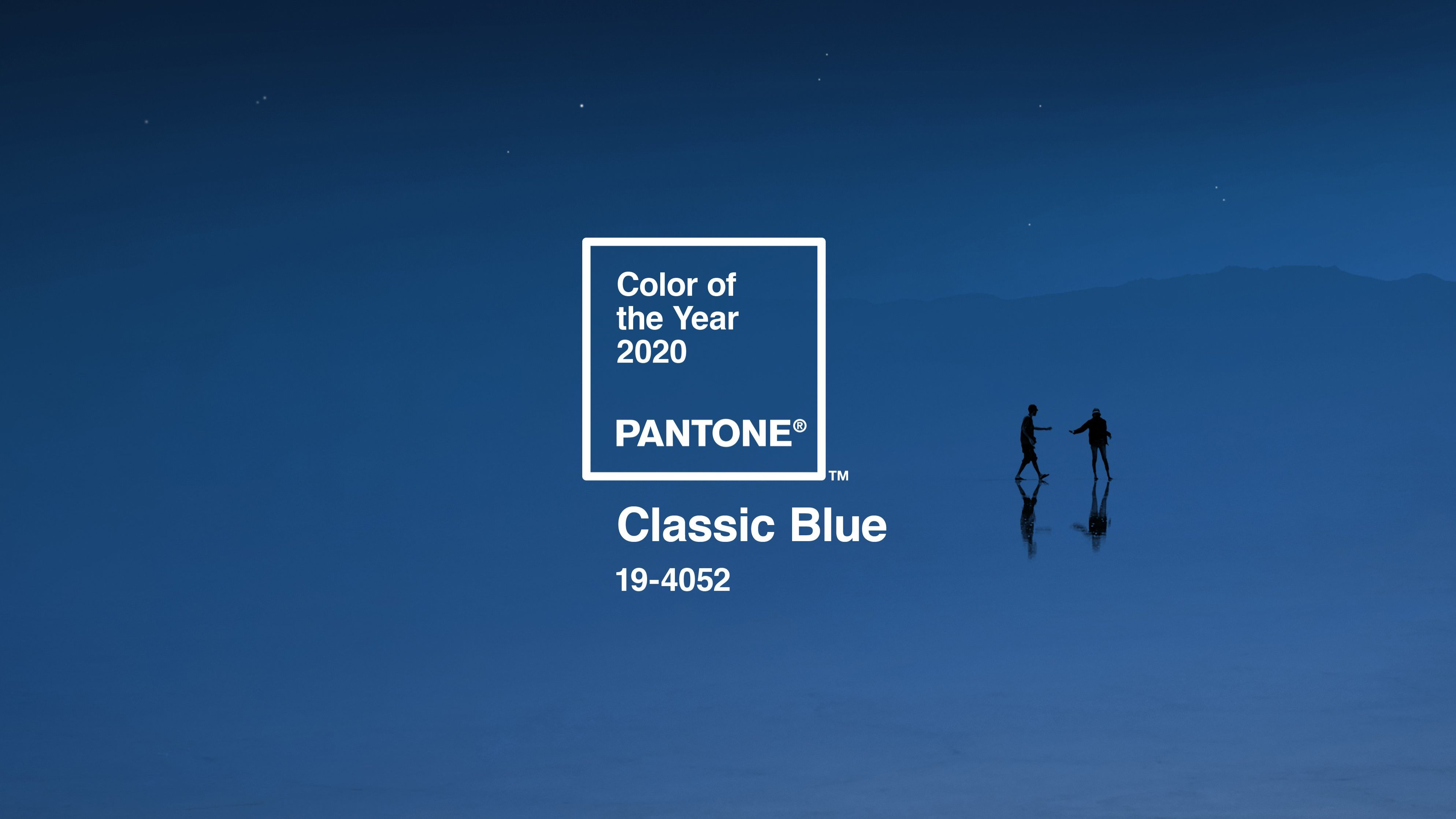Depois do Coral, o azul clássico é a cor da Pantone para 2020