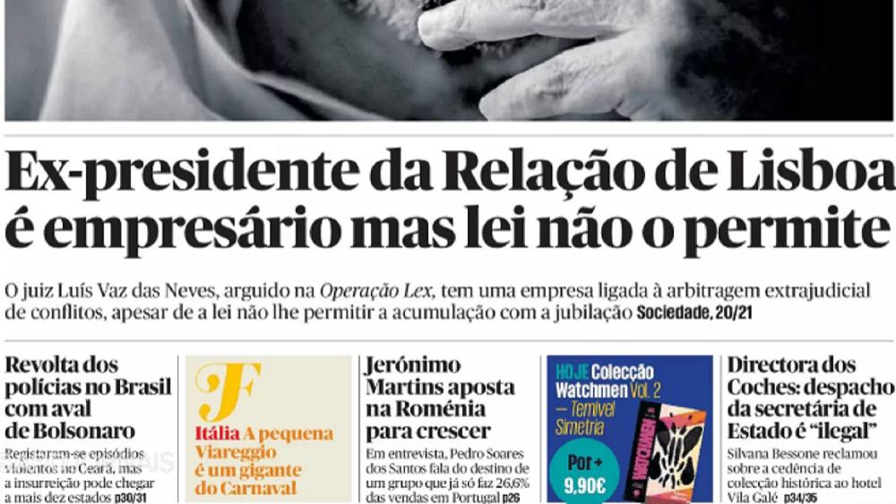 Ex-presidente do Tribunal da Relação de Lisboa também é empresário, mas lei não o permite